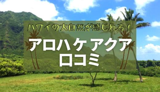 アロハケアクアチャペルの口コミ【ハワイの大自然が感じれる!】